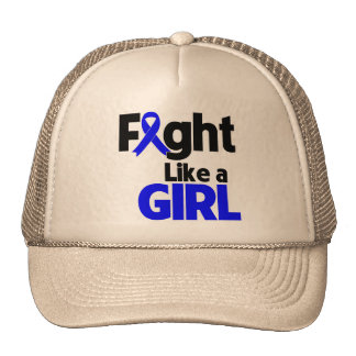 Rectal Cancer Fight Like a Girl Mesh Hats