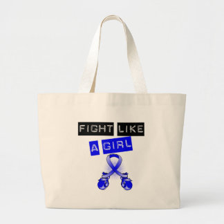 Rectal Cancer Fight Like A Girl Tote Bag