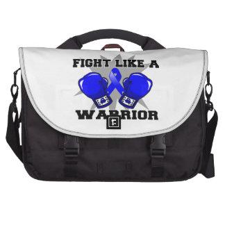 Rectal Cancer Fight Like a Warrior Laptop Bag
