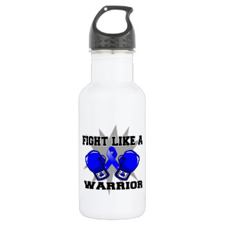 Rectal Cancer Fight Like a Warrior 18oz Water Bottle