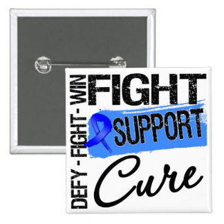 Rectal Cancer Fight Support Cure Pins