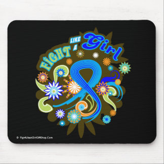 Rectal Cancer Groovy Fight Like A Girl Mouse Pad