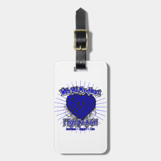 Rectal Cancer Heart I Fight Like A Girl Tag For Luggage