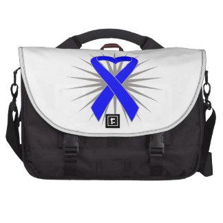 Rectal Cancer Heart Ribbon Computer Bag