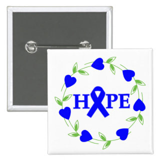 Rectal Cancer Hearts of Hope Button