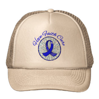 Rectal Cancer Hope Faith Cure Trucker Hat