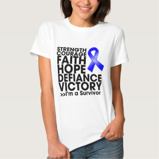 Rectal Cancer Hope Strength Victory Tshirt
