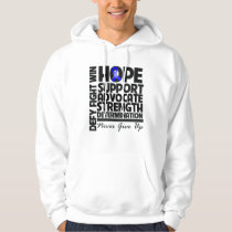 Rectal Cancer Hope Support Advocate Hoodie
