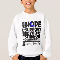 Rectal Cancer Hope Support Advocate Sweatshirt