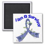 Rectal Cancer I Am A Survivor Fridge Magnet