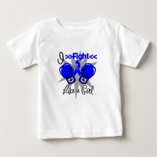 Rectal Cancer I Fight Like a Girl With Gloves T-shirt