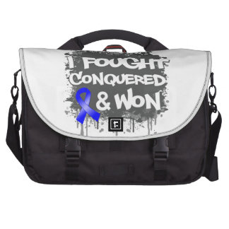 Rectal Cancer I Fought Conquered Won Bag For Laptop