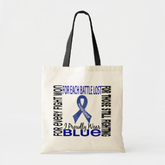 Rectal Cancer I Proudly Wear Blue 2 Budget Tote Bag