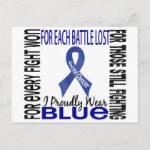 Rectal Cancer I Proudly Wear Blue 2 Postcard