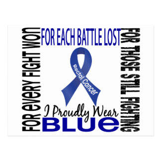 Rectal Cancer I Proudly Wear Blue 2 Postcard