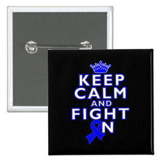 Rectal Cancer Keep Calm Fight On Buttons