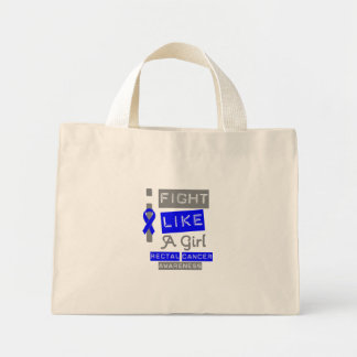 Rectal Cancer Label Logo I Fight Like A Girl Bag