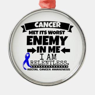 Rectal Cancer Met Its Worst Enemy in Me Metal Ornament