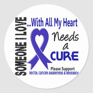 Rectal Cancer Needs A Cure 3 Classic Round Sticker