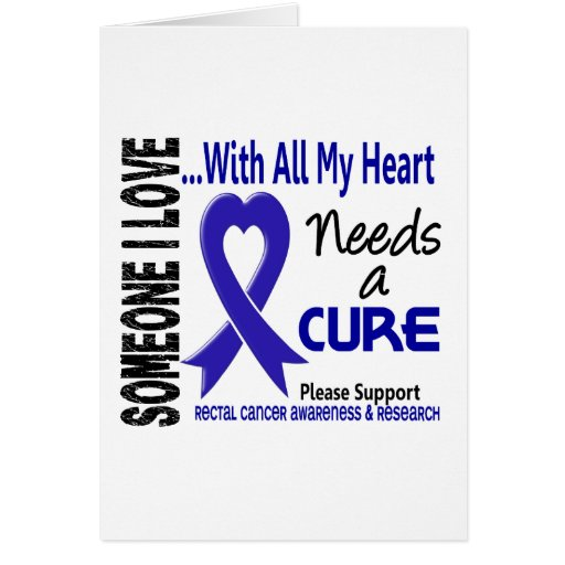 Rectal Cancer Needs A Cure 3 Greeting Card