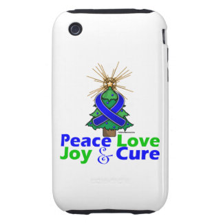 Rectal Cancer Peace Love Joy Cure iPhone 3 Tough Covers