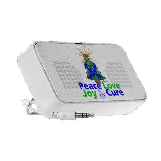 Rectal Cancer Peace Love Joy Cure iPod Speaker