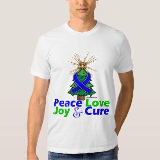 Rectal Cancer Peace Love Joy Cure Tshirts