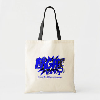 Rectal Cancer POW Style Fight Like A Girl Budget Tote Bag