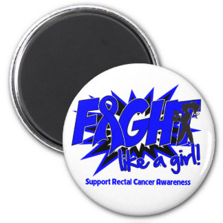 Rectal Cancer POW Style Fight Like A Girl Fridge Magnet