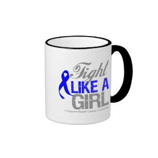 Rectal Cancer Ribbon - Fight Like a Girl Coffee Mug