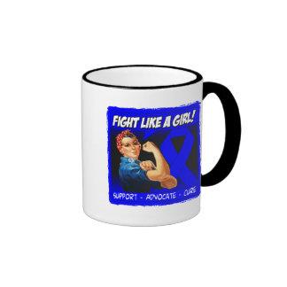Rectal Cancer Rosie Riveter - Fight Like a Girl Mugs