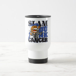 Rectal Cancer - Slam Dunk Cancer 15 Oz Stainless Steel Travel Mug