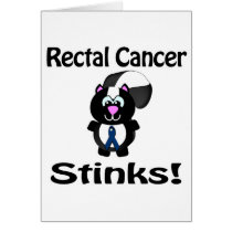 Rectal Cancer Stinks Skunk Awareness Design Card