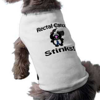 Rectal Cancer Stinks Skunk Awareness Design T-Shirt