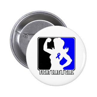 Rectal Cancer Strength Fight Like A Girl Pinback Buttons