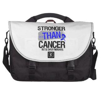 Rectal Cancer - Stronger Than Cancer Laptop Commuter Bag