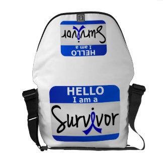Rectal Cancer Survivor 24 png Courier Bag