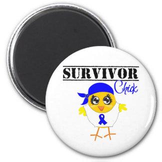 Rectal Cancer Survivor Chick Fridge Magnets
