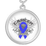 Rectal Cancer Survivor Grunge Winged Jewelry