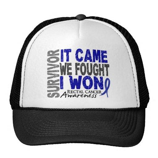 Rectal Cancer Survivor It Came We Fought I Won Trucker Hat