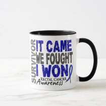 Rectal Cancer Survivor It Came We Fought I Won Mug