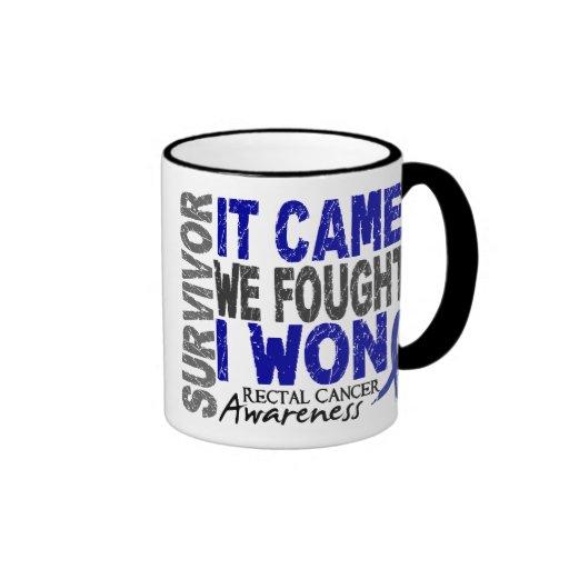 Rectal Cancer Survivor It Came We Fought I Won Mugs