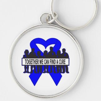 Rectal Cancer Together We Can Find A Cure Silver-Colored Round Keychain
