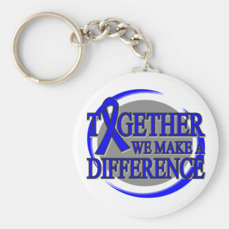 Rectal Cancer Together We  Make A Difference Basic Round Button Keychain