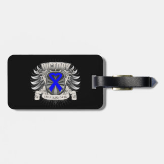 Rectal Cancer Victory Travel Bag Tag