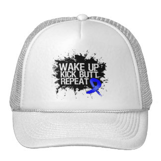 Rectal Cancer Wake Up Kick Butt Repeat Trucker Hat