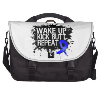 Rectal Cancer Wake Up Kick Butt Repeat Laptop Commuter Bag
