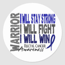 Rectal Cancer Warrior Classic Round Sticker