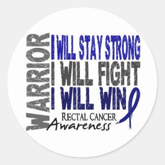 Rectal Cancer Warrior Classic Round Sticker