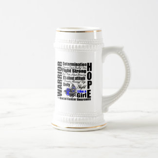 Rectal Cancer Warrior Fight Slogans Coffee Mug